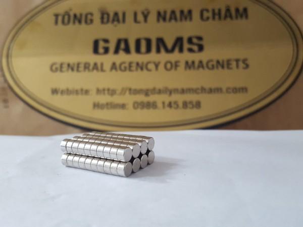 Nam châm đất hiếm 4x3mm Tổng Đại Lý Nam Châm GAOMS