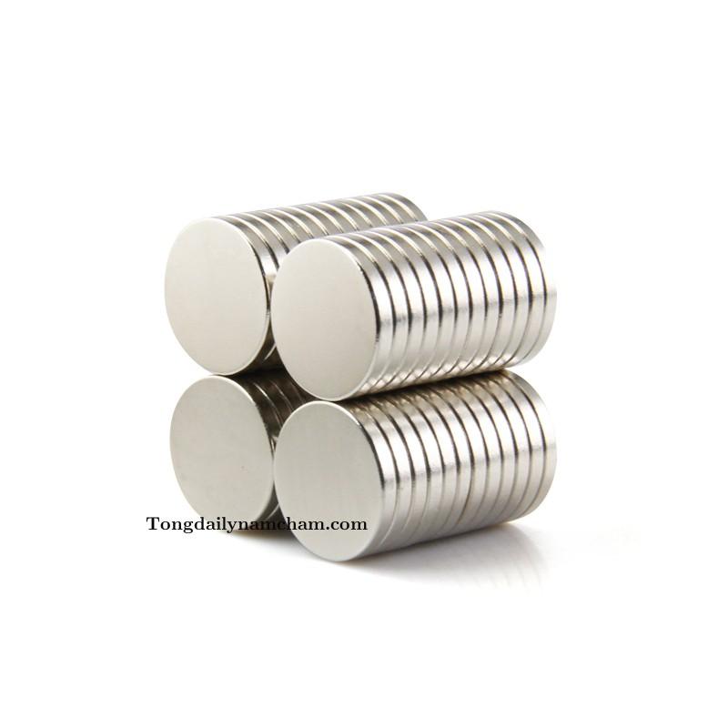 Nam châm viên trắng 15x2mm - Round magnet 15x2mm