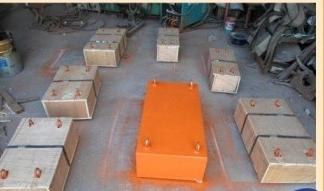 Nam châm băng tải 500x300x200mm lọc tạp chất sắt
