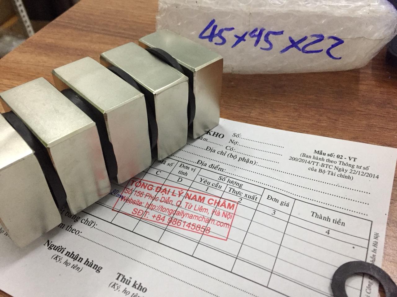 Nam châm mạnh siêu cường 45x45x22mm