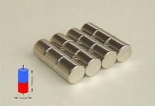 Nam châm viên trắng đất hiếm 8x8mm - neodymium magnet 8x8mm round magent 8x8mm