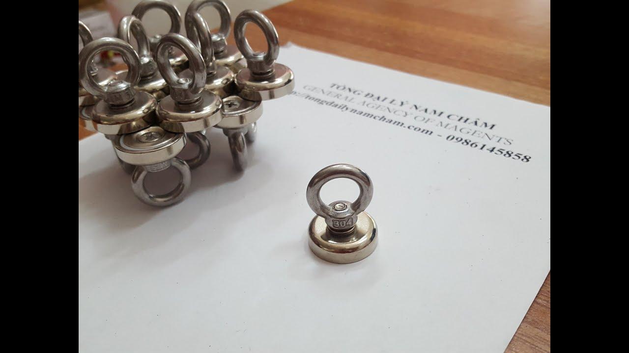 Móc treo nam châm dạng móc cứu hộ D20 và D25mm dùng treo đồ