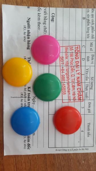 Nam châm đính bảng từ 2cm màu sắc
