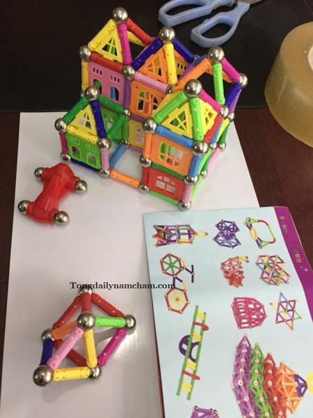 Bộ đồ chơi xếp hình màu sắc nam châm