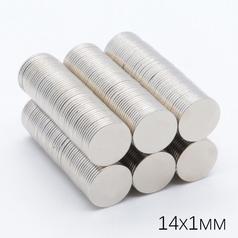 Nam châm tròn dẹt mỏng 14x1 mm và nam châm 14x1.5 mm