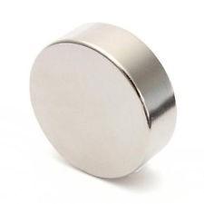 Nam châm viên trắng đất hiếm 50x8mm - Round magnet 50x8mm