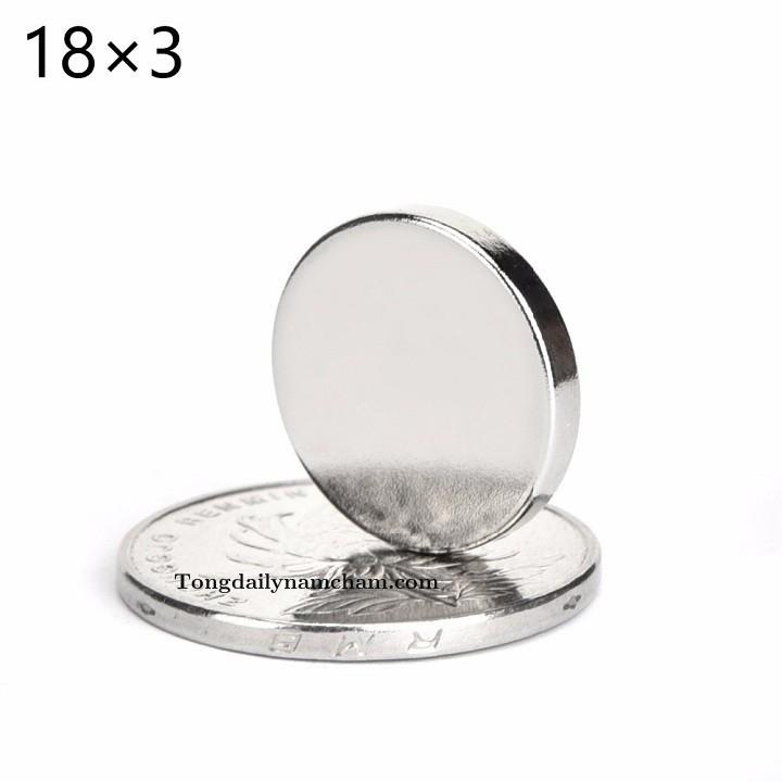 Nam châm viên tròn 18x3mm