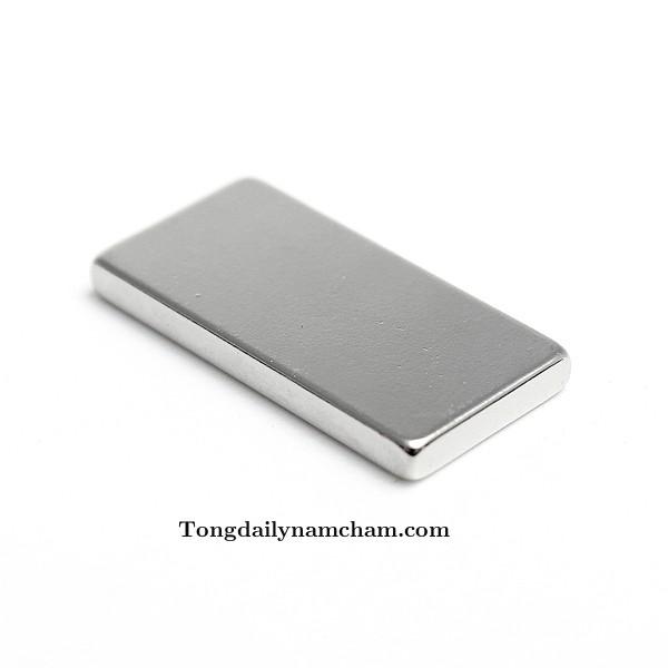Nam châm viên trắng hình chữ nhật 25x14x3mm