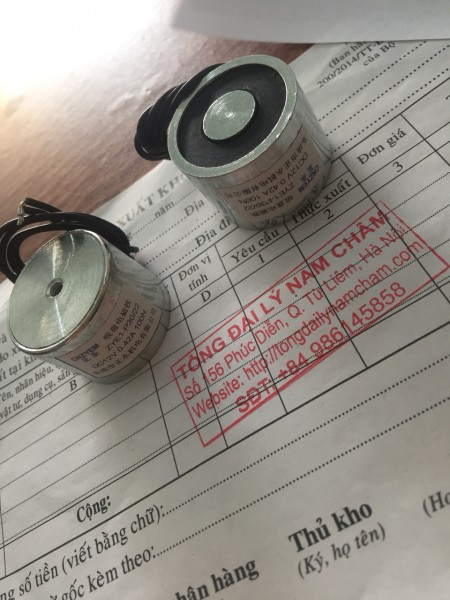Nam châm điện 12V 10kg-100N