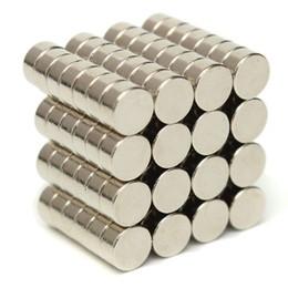 Nam châm viên trắng đất hiếm 6x5mm - Round magnet 6x5mm