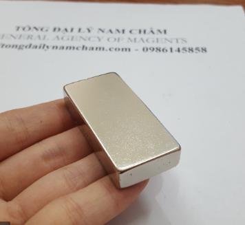 Nam châm trắng 50x25x10mm siêu hút