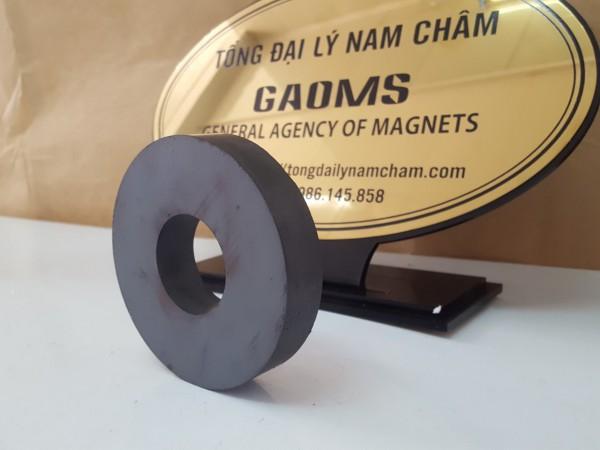 Nam châm đen ferrite hình nhẫn 100x20 lỗ 40mm