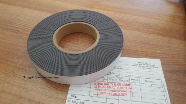 Nam châm dẻo băng keo KT 30x1.5x10000mm(Rộng 3cm, dài 10 mét)